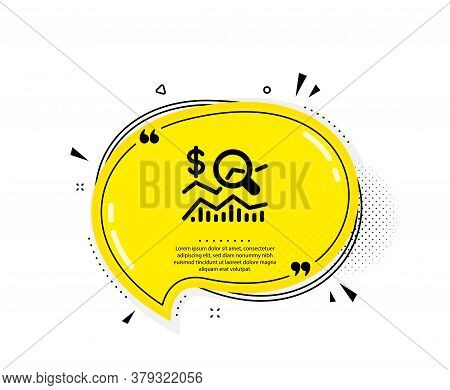 Check Investment Icon. Quote Speech Bubble. Business Audit Sign. Check Finance Symbol. Quotation Mar