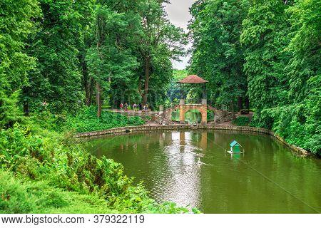 Chinese Bridge In Alexandria Park. Bila Tserkva, Ukraine