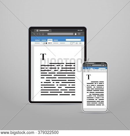 Tablet And Smartphone Screns Cross Platform Application Development Adaptive User Interface Responsi