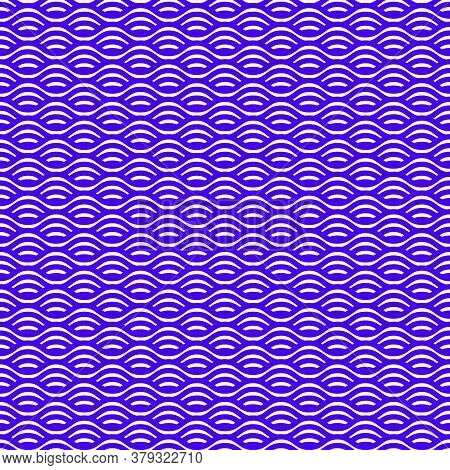 Seamless Wave Line Pattern. Abstract Background With Wavy Shapes. Geometric Modern Pattern For Texti