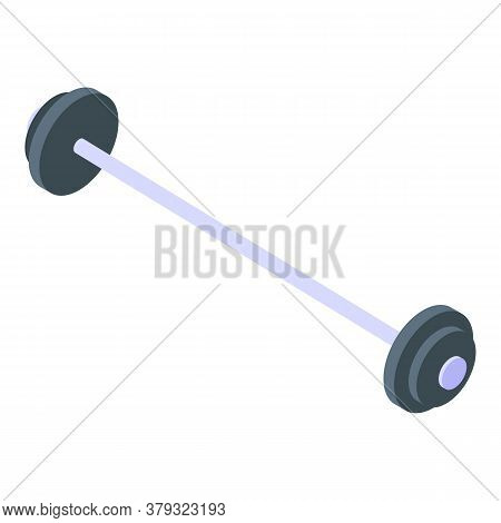 Gym Barbell Icon. Isometric Of Gym Barbell Vector Icon For Web Design Isolated On White Background