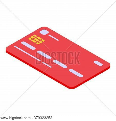 Personal Credit Card Icon. Isometric Of Personal Credit Card Vector Icon For Web Design Isolated On