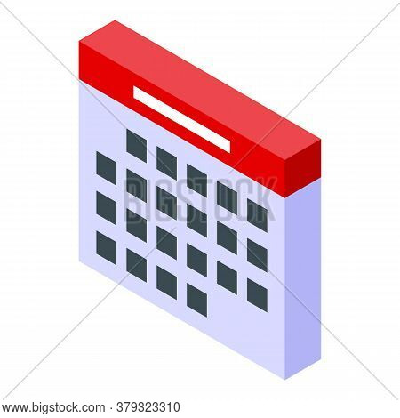 Personal Information Calendar Icon. Isometric Of Personal Information Calendar Vector Icon For Web D