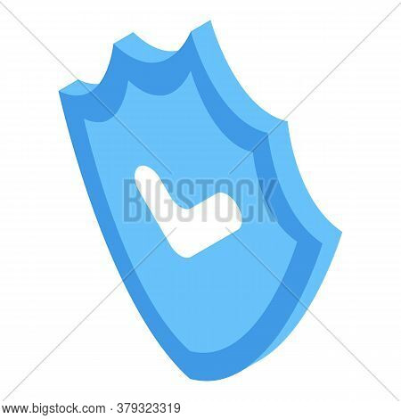 Personal Information Secured Shield Icon. Isometric Of Personal Information Secured Shield Vector Ic