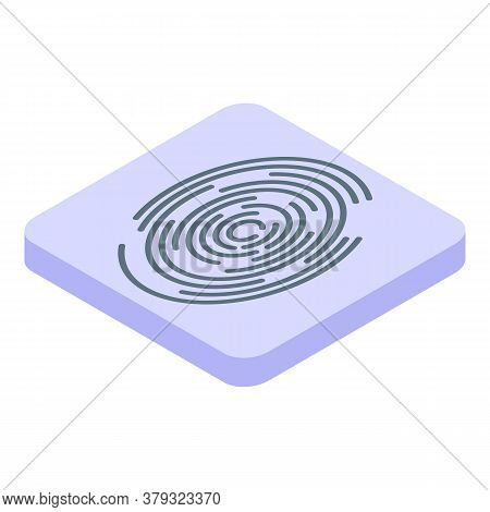 Personal Information Fingerprint Icon. Isometric Of Personal Information Fingerprint Vector Icon For