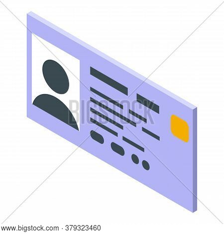 Personal Information Document Icon. Isometric Of Personal Information Document Vector Icon For Web D