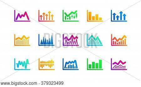 Candlestick Graph, Infochart And Report Diagram. Charts And Graphs Icons. Presentation Classic Icon