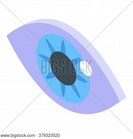 Iris Eye Authentication Icon. Isometric Of Iris Eye Authentication Vector Icon For Web Design Isolat