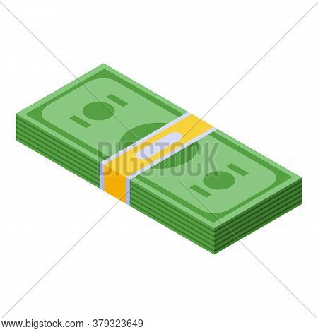 Authentication Money Pack Icon. Isometric Of Authentication Money Pack Vector Icon For Web Design Is