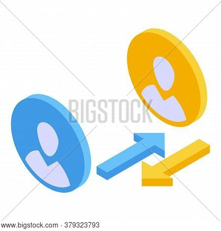 Account Remote Access Icon. Isometric Of Account Remote Access Vector Icon For Web Design Isolated O