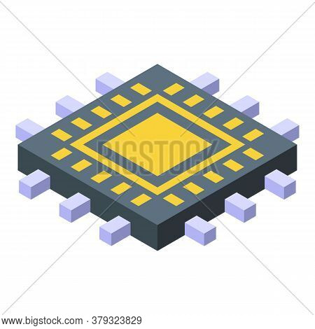 Processor Remote Access Icon. Isometric Of Processor Remote Access Vector Icon For Web Design Isolat