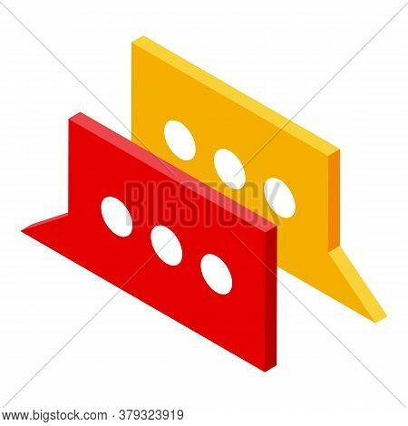Chat Remote Access Icon. Isometric Of Chat Remote Access Vector Icon For Web Design Isolated On Whit