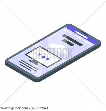 Smartphone Remote Access Icon. Isometric Of Smartphone Remote Access Vector Icon For Web Design Isol