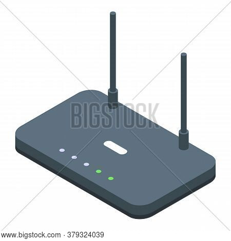 Wifi Router Remote Access Icon. Isometric Of Wifi Router Remote Access Vector Icon For Web Design Is