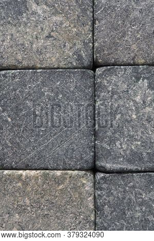 Stone Dark Textured Background Close Up. Natural Gray Backdrop Or Wallpaper. Rough Shabby Surface. S