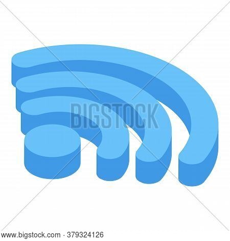 Wifi Remote Access Icon. Isometric Of Wifi Remote Access Vector Icon For Web Design Isolated On Whit