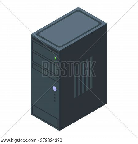 Desktop Pc Operating System Icon. Isometric Of Desktop Pc Operating System Vector Icon For Web Desig