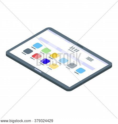 Tablet Operating System Icon. Isometric Of Tablet Operating System Vector Icon For Web Design Isolat
