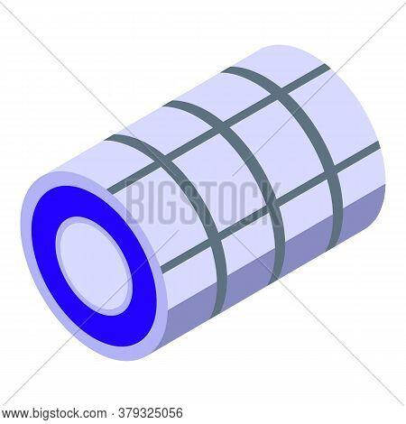 Metallurgy Steel Roll Icon. Isometric Of Metallurgy Steel Roll Vector Icon For Web Design Isolated O