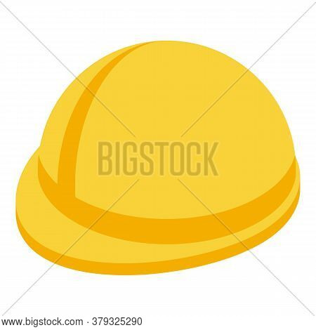 Metallurgy Worker Helmet Icon. Isometric Of Metallurgy Worker Helmet Vector Icon For Web Design Isol