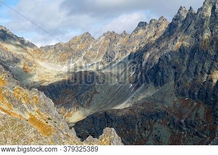 Great Cold Valley In Vysoke Tatry (high Tatras), Slovakia. The Great Cold Valley Is 7 Km Long Valley