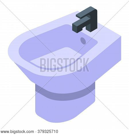 Bath Bidet Icon. Isometric Of Bath Bidet Vector Icon For Web Design Isolated On White Background