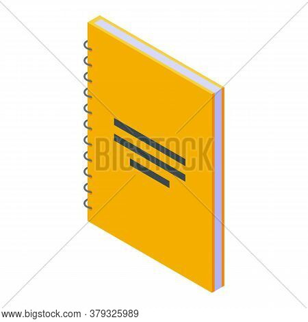 Paper Notebook Storage Icon. Isometric Of Paper Notebook Storage Vector Icon For Web Design Isolated