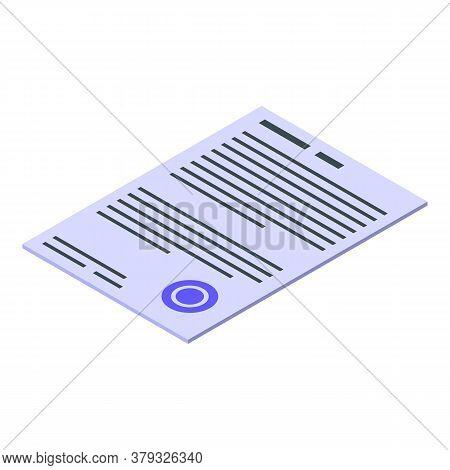 Paper Storage Document Icon. Isometric Of Paper Storage Document Vector Icon For Web Design Isolated