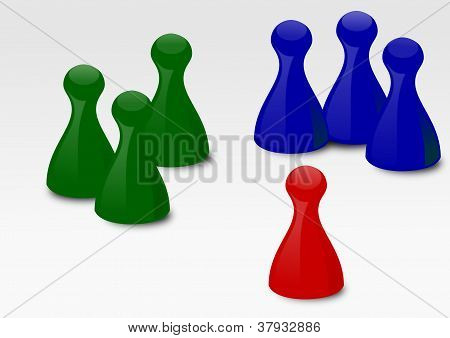 The playing pieces