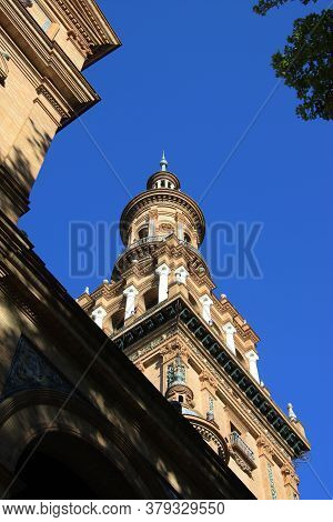 Seville, Spain - July 13, 2011:the Spanish City Of Seville Is Famous For Its Beautiful Architecture