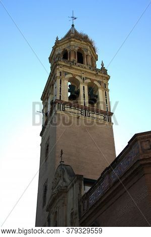 Seville, Spain - July 13, 2011:fragment Of An Old Temple In The Spanish City Of Seville