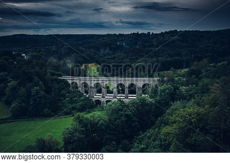 Sychrov Stone Railway Viaduct Was Built In 1857-1859, Construction Was Carried Out By Brothers Klein