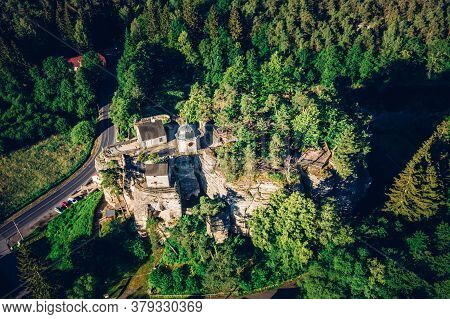 Castle Sloup Is A Defunct Rock Castle On The Southwestern Edge Of The Village Of Sloup In Bohemia In