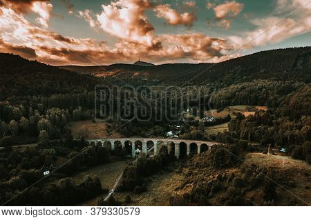 The Railway Viaduct Was Built Near The Village Of Novina On The Line From Liberec To Ceska Lipa Betw