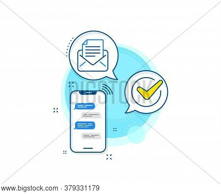 Read Message Sign. Phone Messages Complex Icon. Mail Correspondence Line Icon. E-mail Symbol. Messen