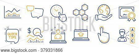 Set Of Education Icons, Such As Best Manager, Speech Bubble. Certificate, Save Planet. Trade Infocha
