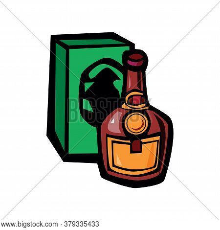 Vector Illustration Of Cognac Isolated On A White Background In Eps10