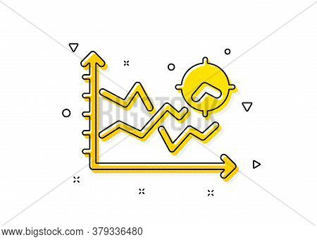 Web Targeting Chart Sign. Seo Analysis Icon. Traffic Management Symbol. Yellow Circles Pattern. Clas