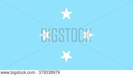 Flag Of Federated States Micronesia. Vector Illustration