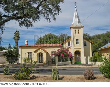 old Dutch reformed church in a small town in south Africa