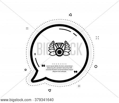 Laurel Wreath Icon. Quote Speech Bubble. Winner Medal Symbol. Prize Award Sign. Quotation Marks. Cla