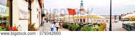 POZNAN, POLAND - September 2, 2019: The Old Market Square (Stary Rynek) in Poznan, Poland