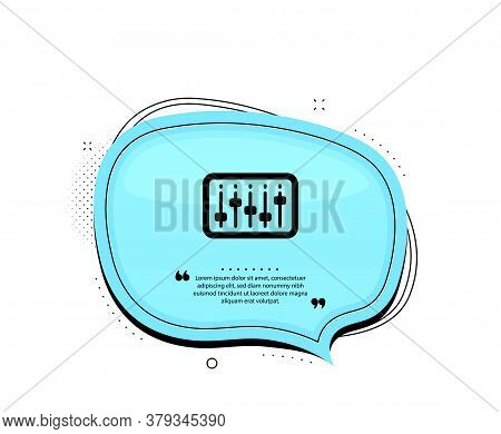 Dj Controller Icon. Quote Speech Bubble. Music Sound Sign. Musical Device Symbol. Quotation Marks. C
