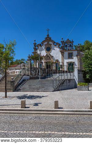 Viseu / Portugal - 07/31/2020 :exterior View Of The Church Of Nossa Senhora Da Conceicao, A Rococo I