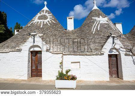 Typical Trulli houses in Alberobello, Apulia, Italy.
