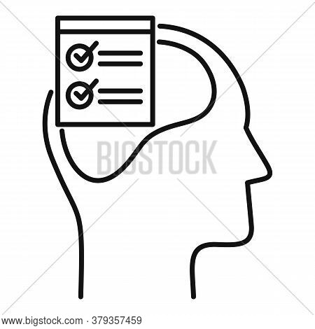 Checklist Neuromarketing Icon. Outline Checklist Neuromarketing Vector Icon For Web Design Isolated