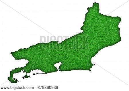 Detailed And Colorful Image Of Map Of Rio De Janeiro On Green Felt