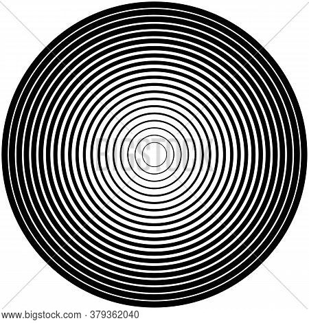 Monochrome Spiral Geometric. Rotating Radial Lines Abstract Design Element. Abstract Vortex Line Bac