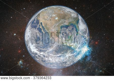 Earth. Solar System. Awesome Print For Wallpaper. Elements Of This Image Furnished By Nasa.