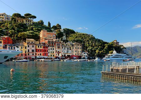 Summer vacation at Portofino, luxurious resort on the Ligurian Coast, Italy, Europe